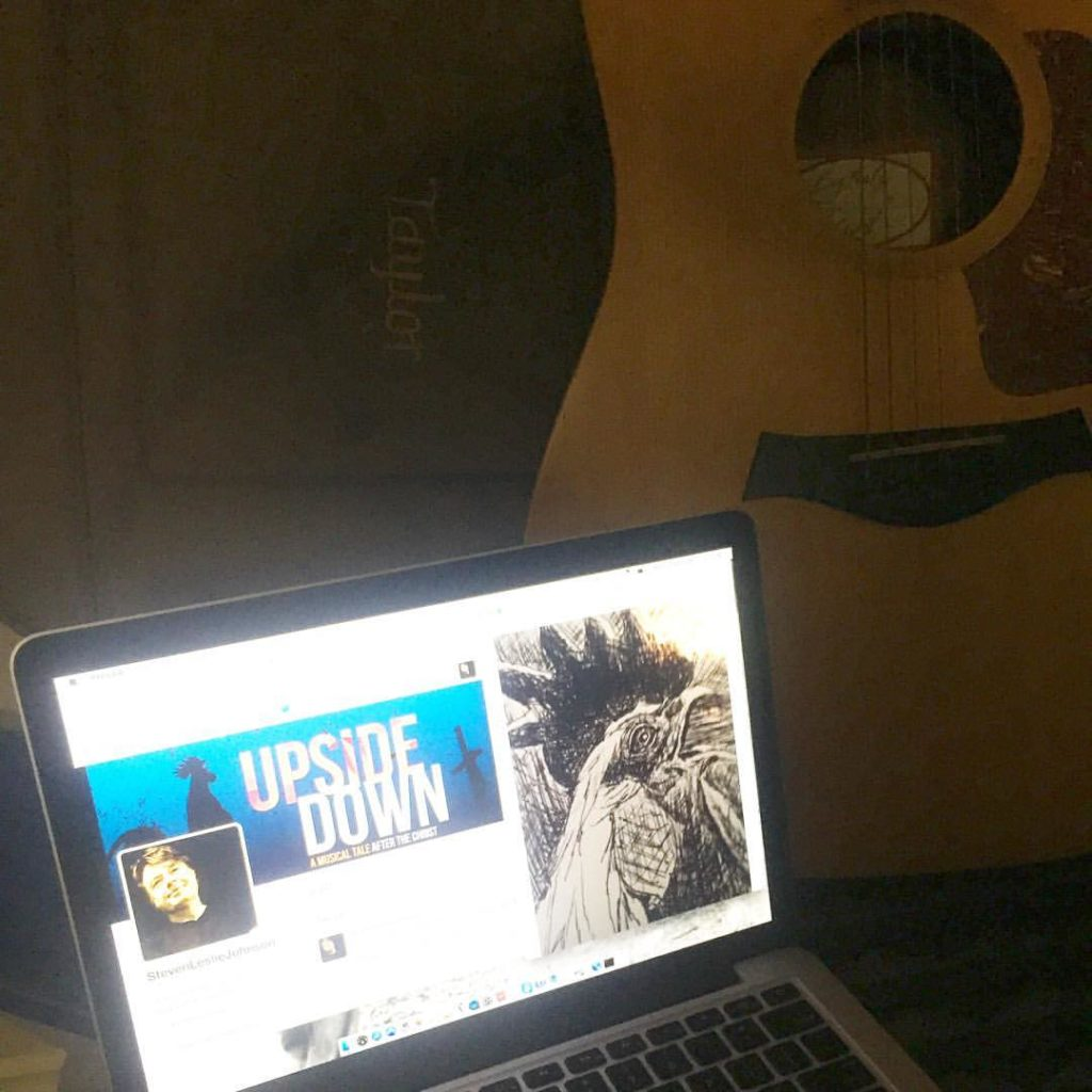 mac and guitar