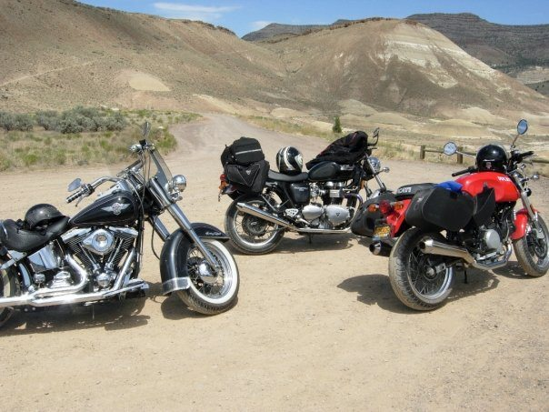 three bikes in desert